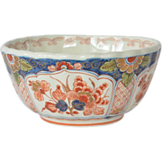 SALE Delft, Holland, vintage, Imari scalloped rim bowl,1984.