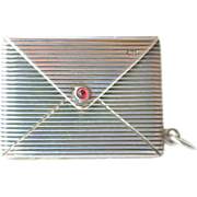SALE Silver ( .900 ) miniature envelope pendant, early 1900s.