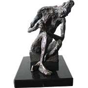REDUCED Composition Sculpture of Seated Nude - ANANDA F. WEISSMAN