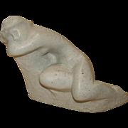 SALE Vintage Art Nouveau Reclining Nude by Victor Glasky