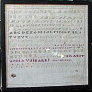 REDUCED 1864 Spanish Sampler - Antonia Vaibarri