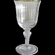REDUCED Six Venetian Glass – Red Wine Glasses – Gilded Rims