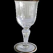 REDUCED Six Venetian Glass – White Wine Glasses – Gilded Rims