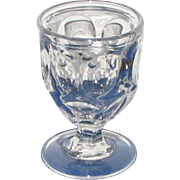 "REDUCED ""ASHBURTON"" Pattern Clear Flint Glass Egg Cups"