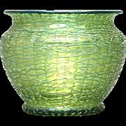 Loetz Iridescent Crete Chine Vase Bohemia