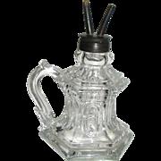 REDUCED Boston & Sandwich Antique Glass Whale Oil Finger Lamp ca 1850