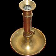 """8"""" Tall Brass Push Up Candlestick"""