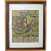 REDUCED Map of Shrowesbury, England – Ca 1649