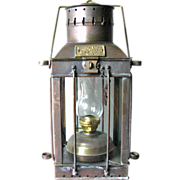 "REDUCED Vintage English Ship Lantern – 'CARGO Light"" – 1939"