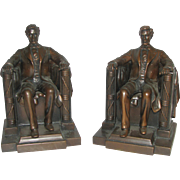 REDUCED Vintage Pair Abraham Lincoln Bookends