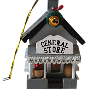 Hand Made General Store 1984 Wooden Christmas Ornament