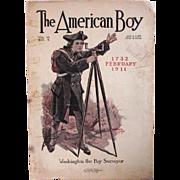 The American Boy Magazine Cover – 1911 – Washington – Boy Surveyor