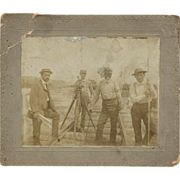 Antique Ca 1890 Photo – Railroad Surveyors & Transit, New Brighton, PA