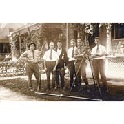 Real Photo Post Card – Surveying Students in Rutland, Vermont – Ca 1905