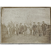 "Antique Photo of Land Surveyors CA 1880 – ""IRON COUNTRY, MI"""