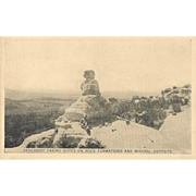 RPPC – 1928 - 'Geologist Taking Notes On Rock Formations...'