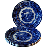 "REDUCED Flow Blue Plate 1889-1900 ""Non Pariel"""