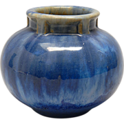 REDUCED Antique Fulper Art Pottery Vase - Blue Flambe - 1910-1916
