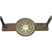 REDUCED Early Wooden Surveyors Compass - S. Thaxter  & Sons,  Boston