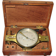 "REDUCED Antique 10"" Surveyor's Compass by Stackpole & Brother, New York"
