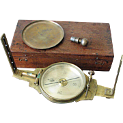 W & L.E. Gurley Brass Surveyor's Vernier Compass PLUS!