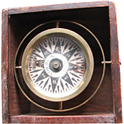 SOLD Antique S. Thaxter & Son, Boston, Dry Card Boxed Compass