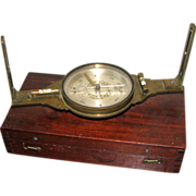 "SOLD 12"" Fry & Shaw Brass Surveyor's Compass, New York"