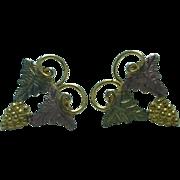 Lady's  10K gold Black Hills Gold style pierced earrings