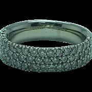 Lady's 18K white gold 52 diamond ,1.3 carat t.w. ring