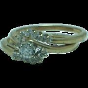 Lady's 2 piece  1/4ct t.w. Diamond 14K gold wedding set