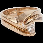 lady's 2 piece diamond wedding set .34 carat t.w. in 14KY yellow gold