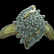 Lady's 18K gold 3/4 carat Diamond Total Weight ring