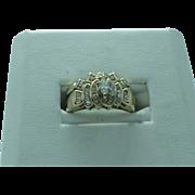 Lady's two-piece diamond 14K gold wedding set