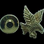 Gent's 14K gold diaond eagle tack pin