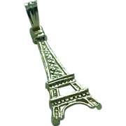 Lady's 1.6 gram 14K yellow gold 22.6mm high Eiffel Tower charm pendant