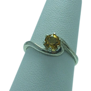 Lady's sterling citrine ring