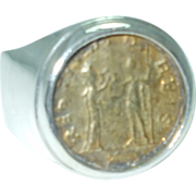 Gent's sterling coin ring