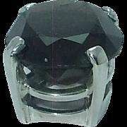 Lady's smokey quartz sterling pendant