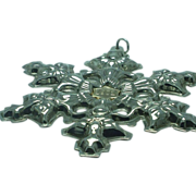 Gorham sterling 1982 snowflake Christmas ornament