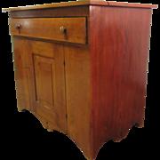 Antique Pine Cabinet w/ Random Wood Back