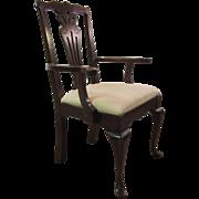 Mahogany Chippendale Arm Chair w/ Queen Anne Leg #2