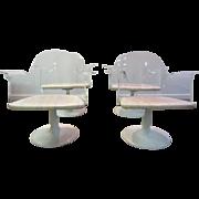 Set-4 Mid Century Danish Modern Tulip Base Saarinen Style Lucite Dining Chairs