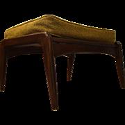 Mid Century Danish Modern IB Kofod Larsen Style Walnut Bench/Ottoman