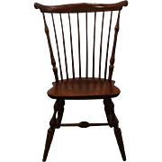 Nichols & Stone Cherry Fan Back Windsor Side/Dining Chair
