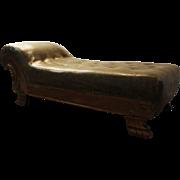 Antique Oak Chaise Lounge/Recamier circa late 1800s