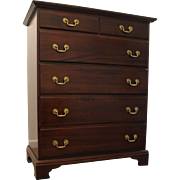 Traditional Chippendale Mahogany Tall Chest by Cresent