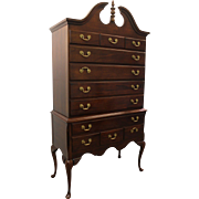 Traditional Chippendale Mahogany Highboy by Crescent