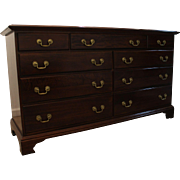 Traditional Chippendale Mahogany Dresser by Cresent