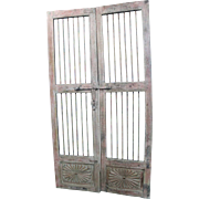 Reclaimed Antique Architectural Salvage Door w/ Wrought Iron #5