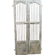 Reclaimed Antique Architectural Salvage Door w/ Wrought Iron #6